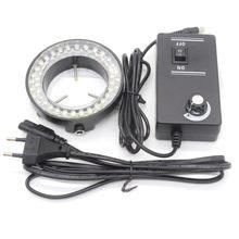 FEITA de 56 Pcs LED Microscópio Anel lâmpada do Microscópio Rodada Iluminação lâmpadas Anel para Microscópio Estéreo Zoom Microscópio