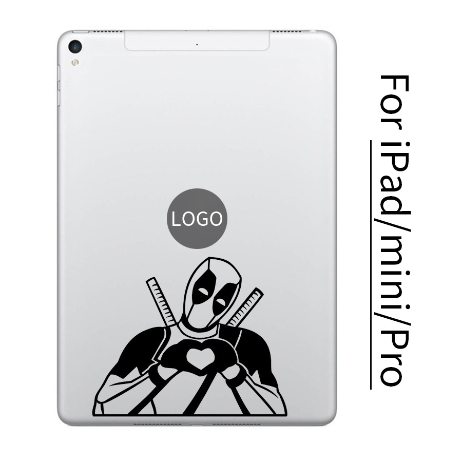 Humor Deadpool Tablet PC Vinyl Sticker for font b Apple b font iPad Decal Air Pro