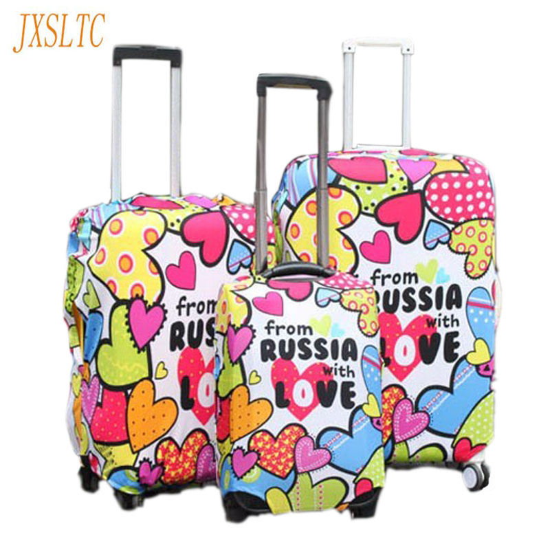 Hot Fashion Travel on Road Luggage Cover Protective Suitcase covers Trolley case Travel Luggage Dust cover for 18 to 30 inch