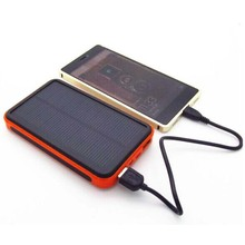 New Portable Waterproof Solar Power Bank 20000mah Dual-USB Solar Battery Charger Powerbank for All Phone Universal Charger LR10