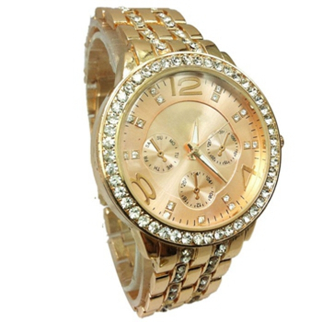 38653436aca Geneva Alloy Band ladies watch Classic Quartz Watches Relogio Feminino  Color Silver Rose Gold Plated wrist watches for women
