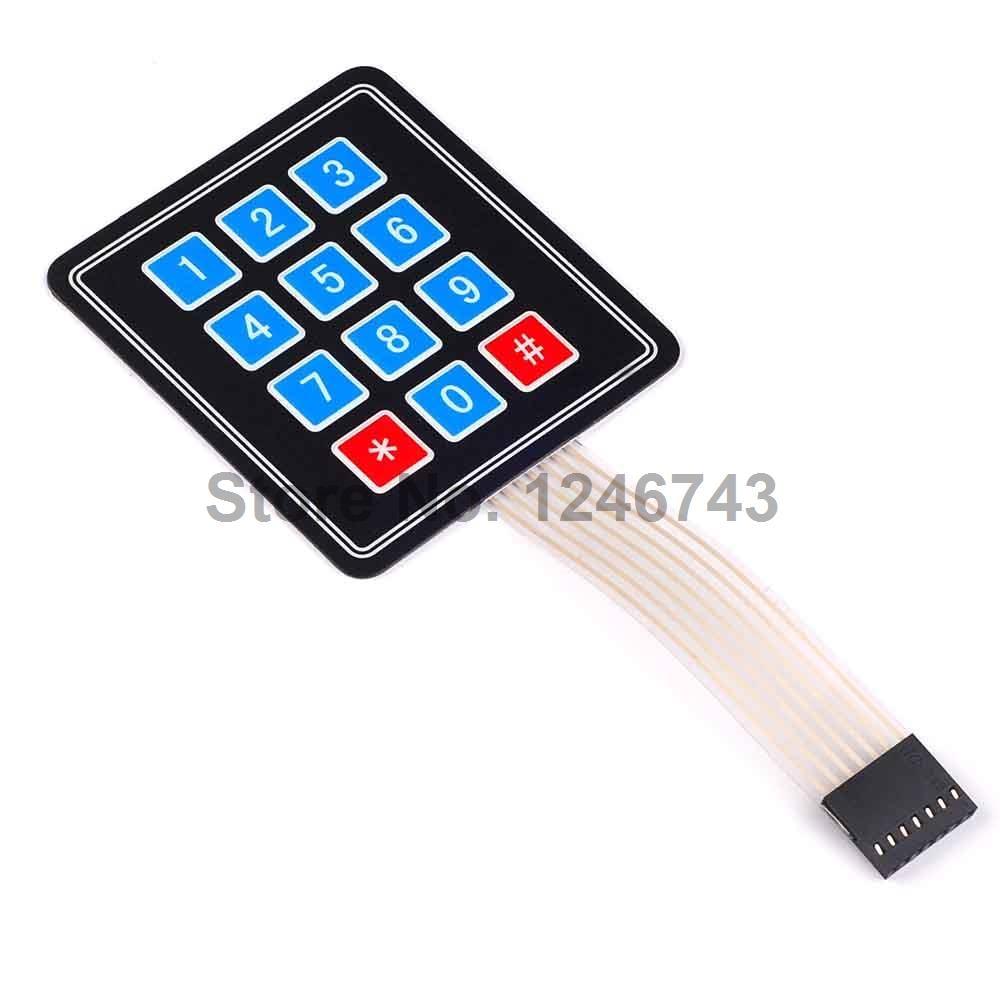 1PCS 4*3 Matrix Array 12 Key Membrane Switch Keypad Keyboard for Arduino AVR PI C