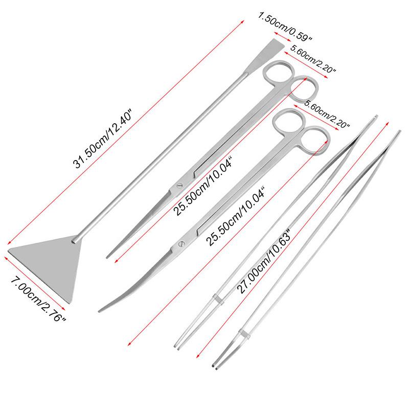 3-5pcs-Aquarium-Maintenance-Tools-Kit-Tweezers-Scissors-For-Live-Plants-Grass-Y102 (1)