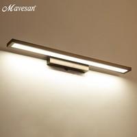 Hot Bathroom Led Mirror Wall Lamps for Living Room white black iron base Indoor wall lights 39cm 52cm 80cm long lighting