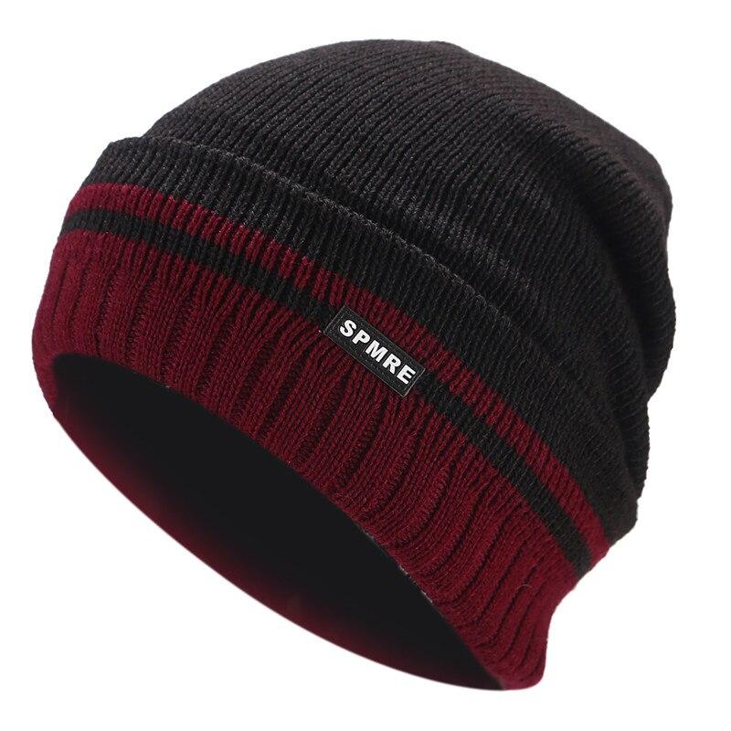 2018 Fleece Beanie Hat Sports Men Knitted Warm Cap Winter Women Hat Casual  Skullies Beanies Thicken Hats Skiing Wool Baggy Caps-in Skullies   Beanies  from ... 5c58407536b