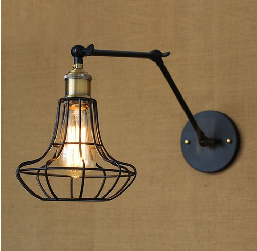 Edison Wall Sconce Retro Loft Style Industrial Vintage Wall Lamp Adjustable Iron Art Wall Light Fixtures For Home Lighting american edison loft style rope retro pendant light fixtures for dining room iron hanging lamp vintage industrial lighting