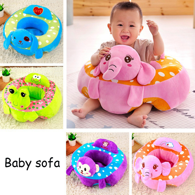 Cartoon Children Sofa Chairs Baby Support Seat Cute Animals Shaped Infant Keep Sitting Posture