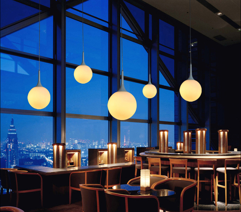 Moderne Milch Globus Glas Schatten Pendelleuchten Für Esszimmer Bar ...