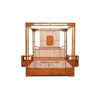 Антикварная мебель из красного дерева спальня с балдахином
