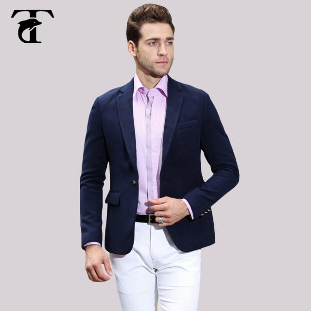 Hombres camiseta slim fit traje de lana gruesa textura más reciente muestra de Negocios de Ocio Personalizado casual blazer chaqueta de la capa azul marino Rojo diseño