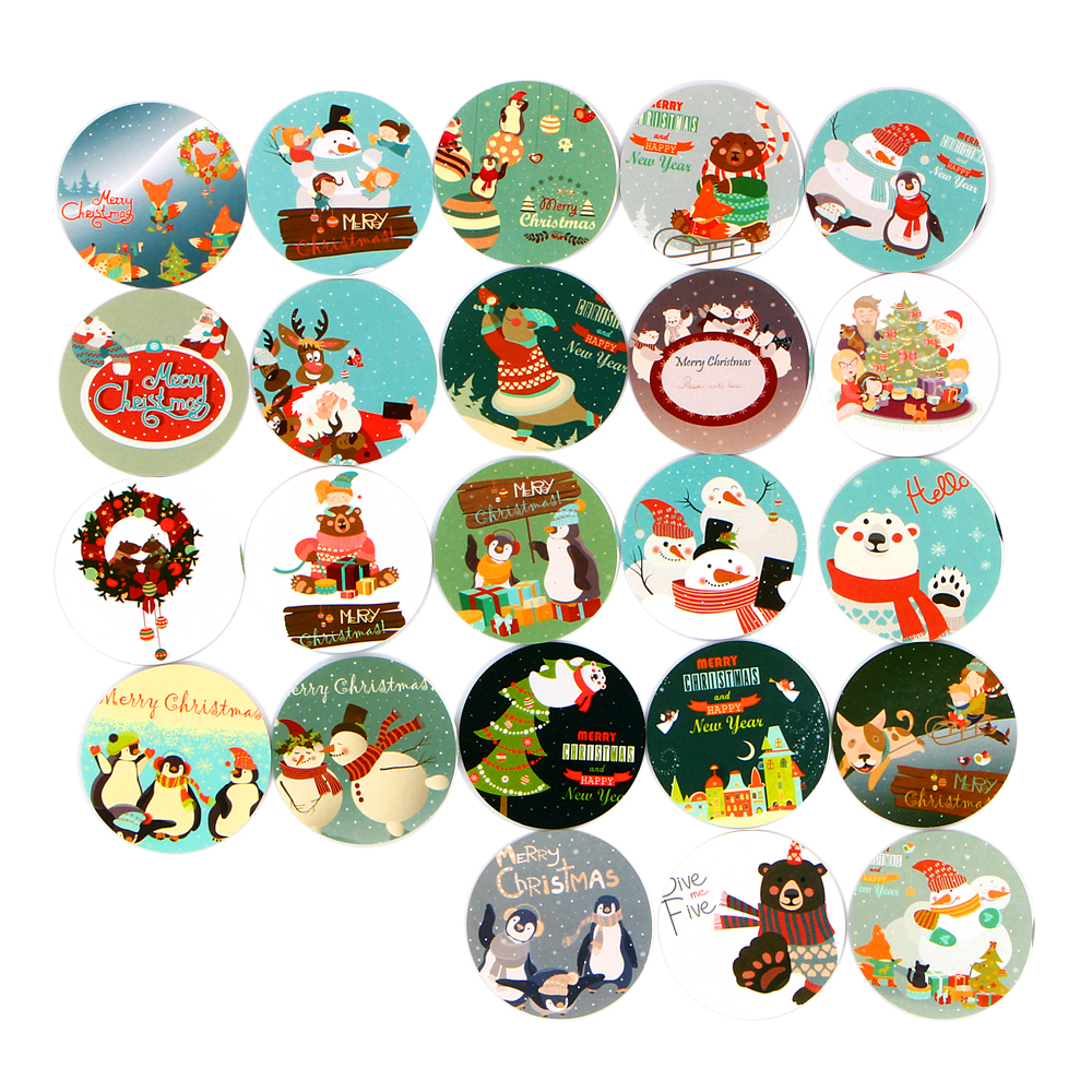 46Pcs/Pack Christmas Snowman DIY Decorative Dairy Sticker Stationery Office School Sticky Label Packaging Stickers Gift E2069