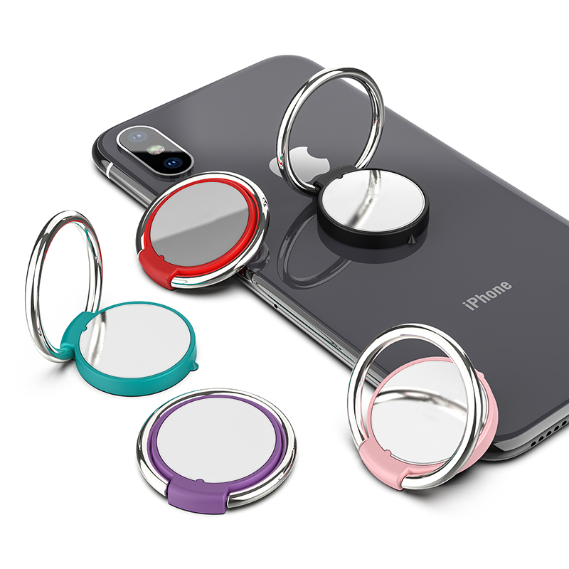 CD Spin 360 Degree Finger Ring Mobile Metal Phone Holder For Magnetic Holder Smartphone Stand for iPhone X Huawei Xiaomi Samsung