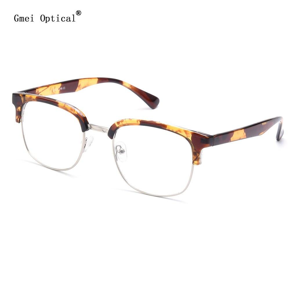 Gmei óptico y9209 leopardo browline Full rim ojo Gafas Marcos para ...