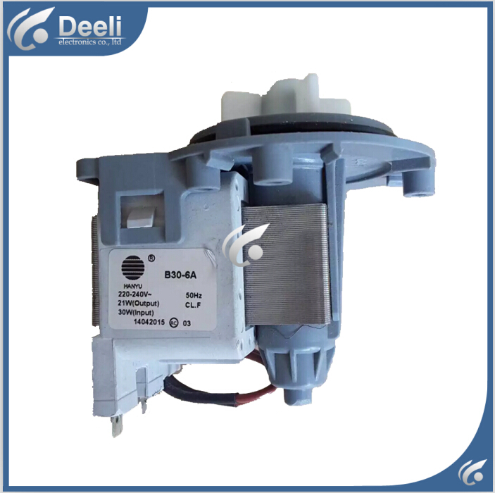 for washing machine parts B30-6A drain pump motor 30W good working washing machine parts dxt 15f g 3 5a 250v 6 wires 6 8cm hole distant