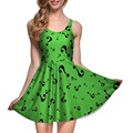 NEW 1089 Sexy Girl Women Summer Batman the Riddler ?  Mark Comics 3D Digital Prints Reversible Sleeveless Skater Pleated Dress