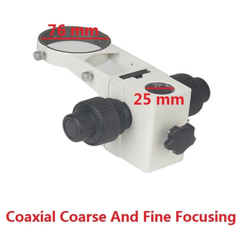 Microscope Adjustment Coaxial Coarse and Fine Focusing Arm Holder E Arm Head Holder Ring Arbor Stand Bracket Bar Hole 25 mm leetun stereo microscope adjustment focus arm holder e arm head holder ring arbor stand bracket diameter 76 mm accessories