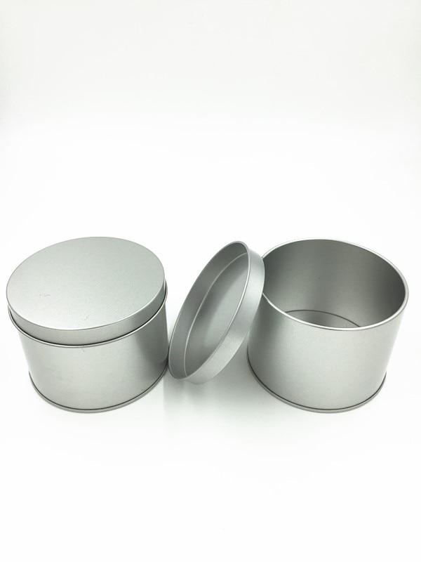 Dia.10 * 7.5cm új érkezés ezüst kerek teásdoboz cukorka tároló - Szervezés és tárolás