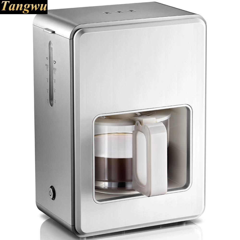 coffee maker USES a small, fully automatic mini American drip cooking tea machine american fully automatic drip coffee maker tea machine automatic anti drip automatic insulation coffee pot cup warming plate