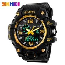Hommes Montres SKMEI Marque De Luxe Multifonctions Quartz Horloge Numérique LED Montre-Bracelet Armée Militaire Sport Montre relogio masculino