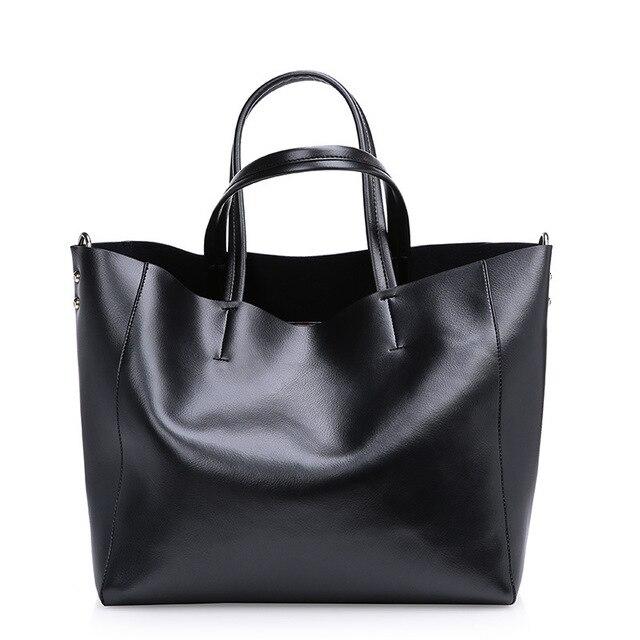 2017 fashion women genuine leather handbag famous designers brand vintage  shoulder bags black shoulder female message 9106b1734a