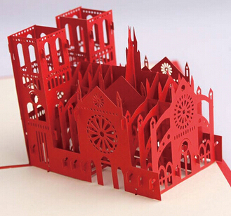 Fashion hot 3d greeting card notre dame de paris do birthday fashion hot 3d greeting card notre dame de paris do birthday blessing three dimensional paper carved paper cut greeting cards m4hsunfo