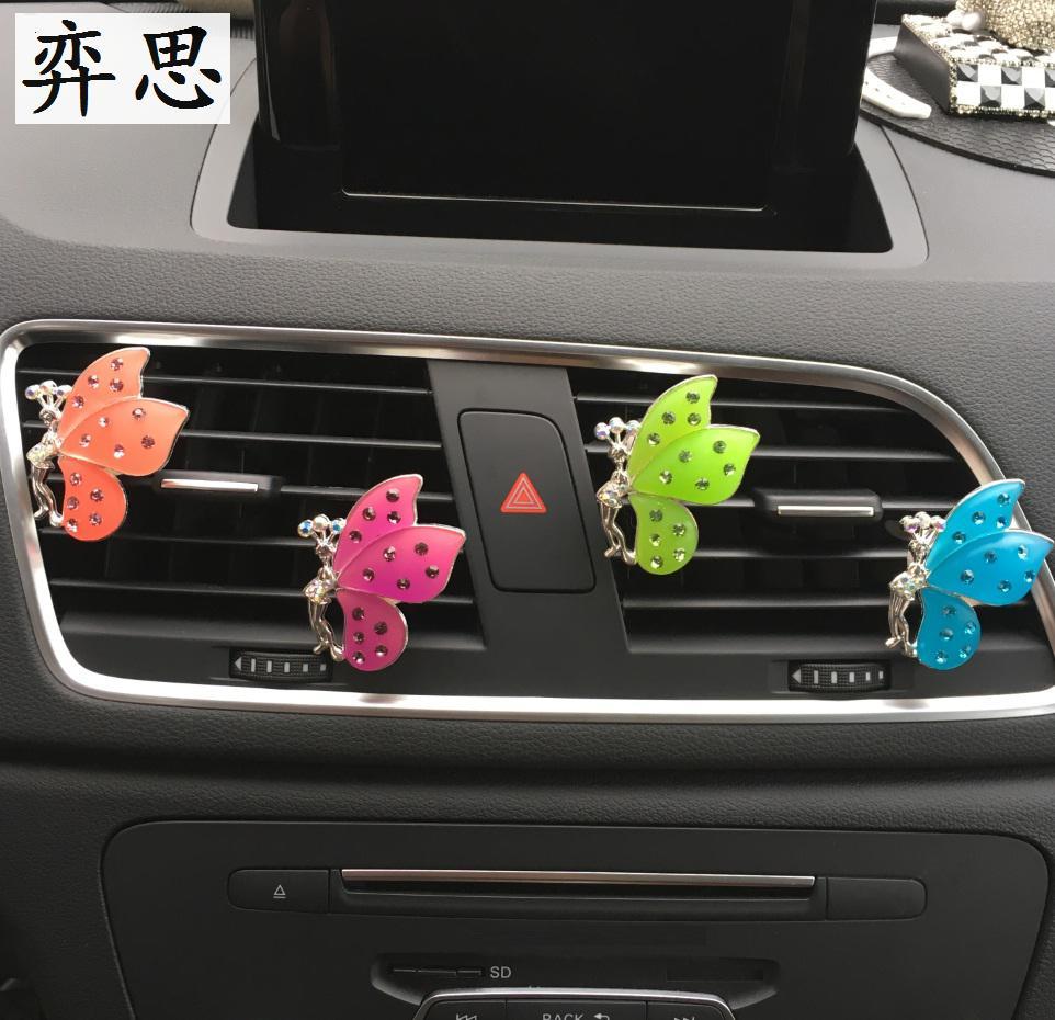 Gyönyörű hölgy autós stílus parfüm Pillangó alakú autó - Autó belső kiegészítők