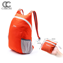CARCHI Nylon Foldable Backpack Waterproof Backpack Lightweight Folding Bag Portable Men Women Backpack For Travel Bags