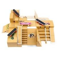 11pcs Skate Park Kit Ramp Parts for Tech Deck Fingerboard Finger Skateboard Ultimate Sport Training Props Novelty Gag Toys