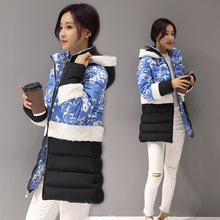 2016 winter duck down jacket women long coat parkas thickening Female Warm Clothes cotton  collar High Quality thick slim lady