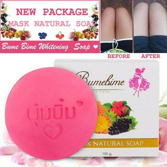 מיידי נס הלבנת סבון תאילנד Bumebime בעבודת יד סבון לבן עור טבעי סבוני אמבטיה פירות חיוני שמן סבון 100g