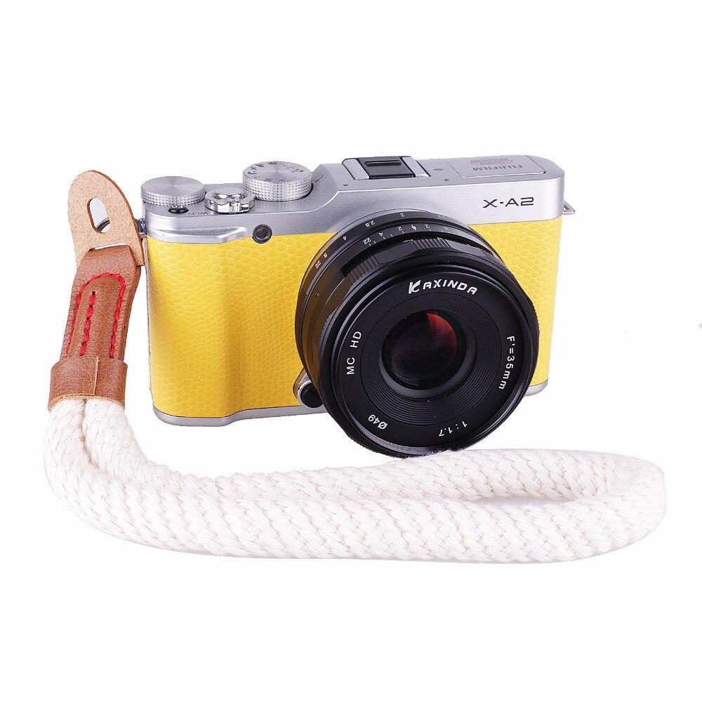 US $3 54 20% OFF|high quality Cotton Camera Wrist Hand Strap for Mirrorless  Digital Camera Leica Fuji Nikon Sony Olympus Canon camera-in Camera Strap