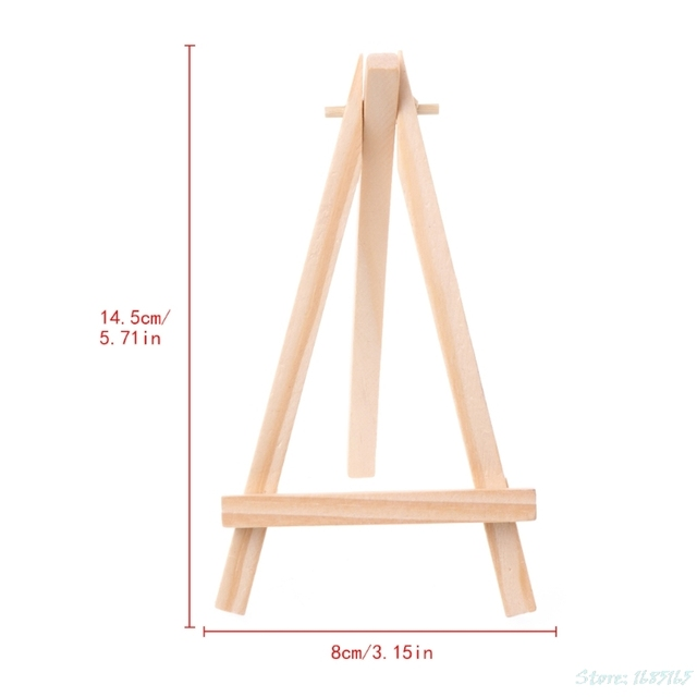 1pc mini wooden tripod easel display painting stand card canvas
