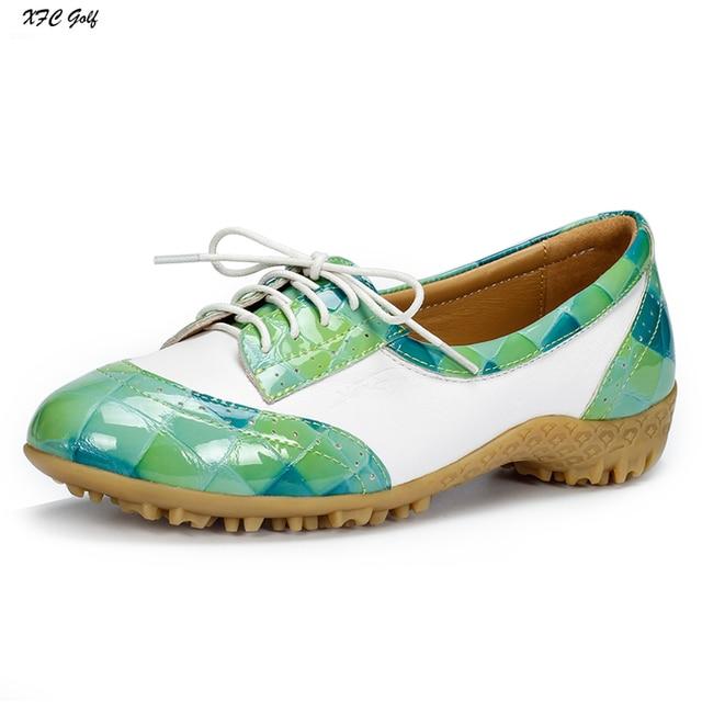 Ladies golf shoes Women waterproof genuine leather breathable golf sport  shoes tennis walk shoe ea400e22bd9
