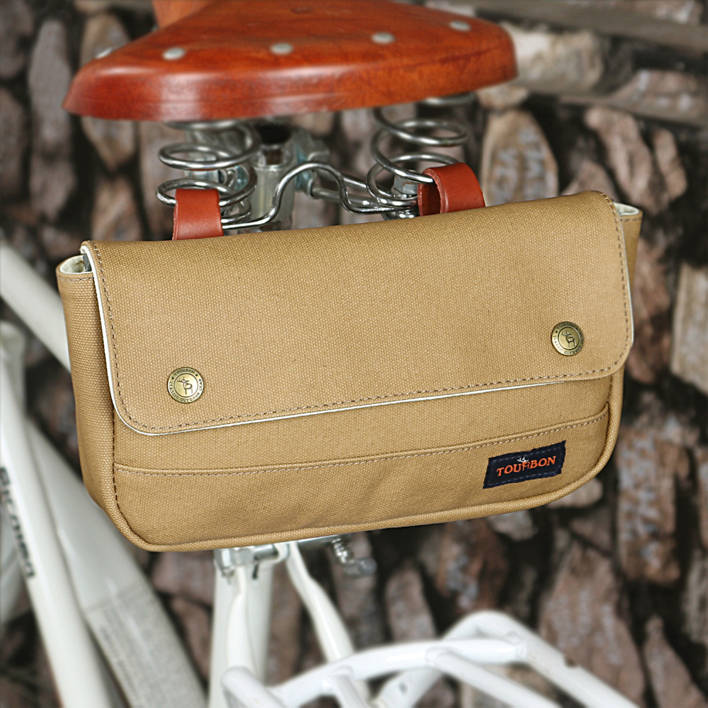 Tourbon Vintage Bicycle Lenkertasche Cycling Front Phone Pouch - Radfahren - Foto 5
