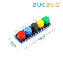 5pcs/set Electronic Building Blocks Big Key Button Module large Button Module Five Key model for Arduino