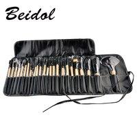 24pcs Pro Makeup Brush Set Professional Makeup Tool Kit Pink Wood Black Color Comestic Makeup Brushes