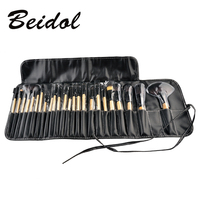 24pcs Pro Makeup Brush Set Professional Makeup Tool Kit Pink Wood Black Color Comestic Makeup Brushes