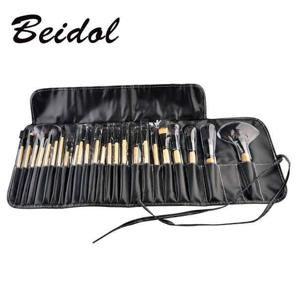 24pcs set Pro Makeup Brush Set Ket Professional Makeup Tool Kit Pink Wood Black Color Comestic
