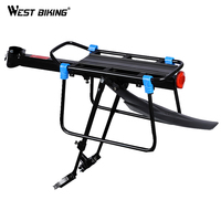 WEST BIKING Bicycle Fender Back Rack For Cycling Aluminum Alloy Quick Release Bike Luggage Carrier Cargo Rear Rack With Fender
