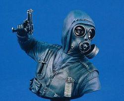 1/10 conjunto de resina busto kit britânico sas soldado com máscara