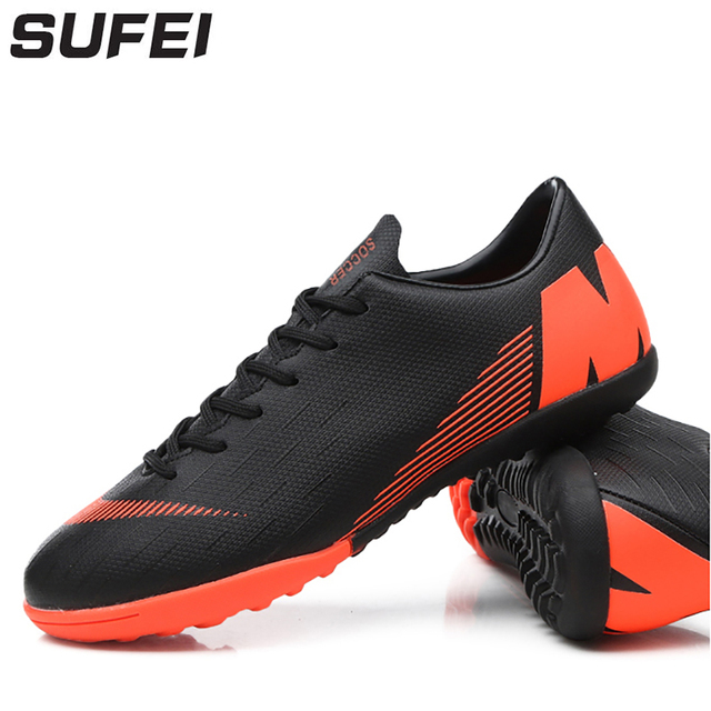 acbb1c30ad1 sufei Soccer Shoes Superfly Futsal TF Football Boots For Men Youth Indoor  Cleats Sport Sneakers Chuteira Futebol