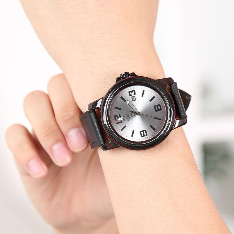 Relógio de Pulso de Quartzo de Fibra de Carbono à Prova Relógio de Pulso de Quartzo Relógio de Pulso Dwaterproof Água Masculino Esporte
