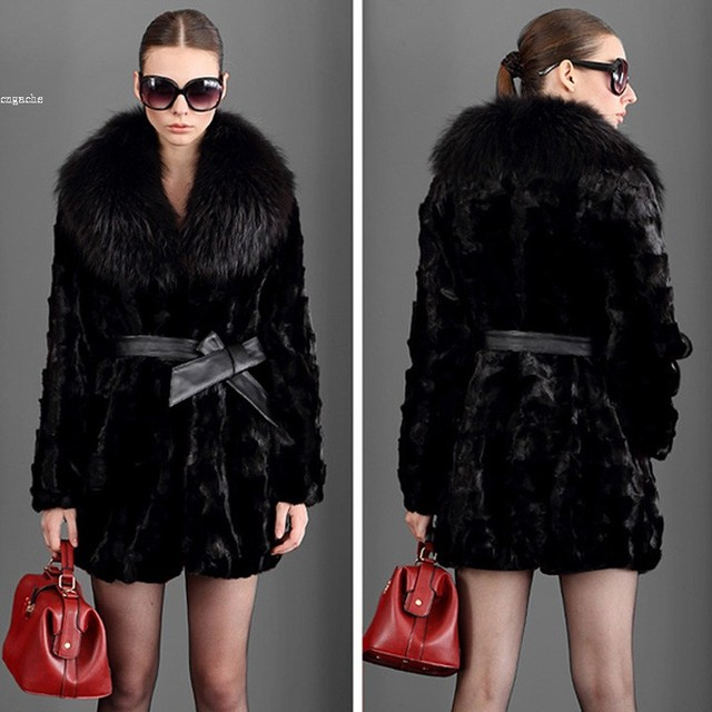 Big Discount! Faux Fur Coats Black Outwear Women's Winter Coat ...
