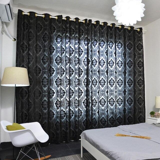 Laatste Elegant Zwart Massaal Effen Kleur Gordijn voor Slaapkamer ...