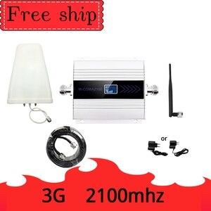 Image 1 - 3G Ripetitore 2100MHz מהדר LCD WCDMA 2100 MHZ נייד אותות בוסטרים מגבר טלפון סלולרי מגבר 5dbi אנטנת שוט