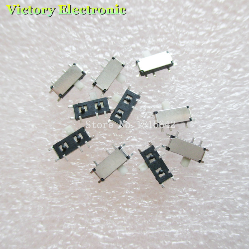 New 20PCS/Lot MP3 Toggle Switch MK12C02 7P-12608 Micro Switch Miniature Toggle MP3 Key Button Wholesale