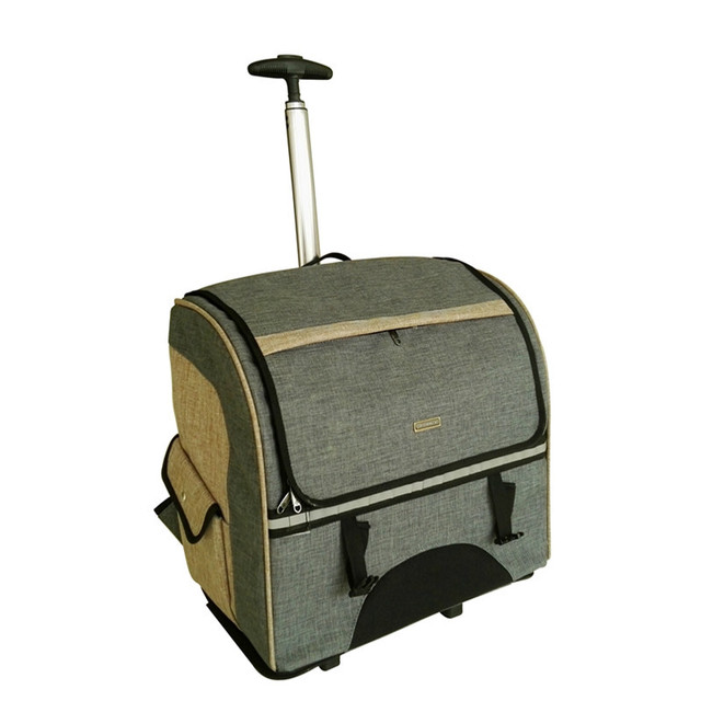 Hotsale!3 colors trolley luggage bag for pets,pet travel luggage bags on wheels