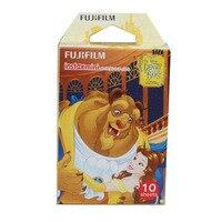 Original Fujifilm Cartoon Beauty And The Beast 10 Sheets For Polariod Camera Instant Mini 8 7s