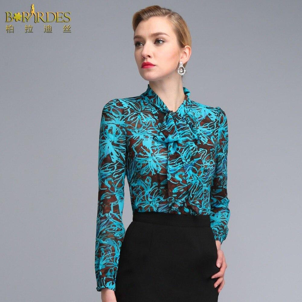Shirt design ladies 2015 - Aliexpress Com Buy Women Summer 2015 New Design Korean Style Ladies Formal Blouse Long Sleeve Slim Fit Chiffon Printed Shirts S 3xl Plus Size From