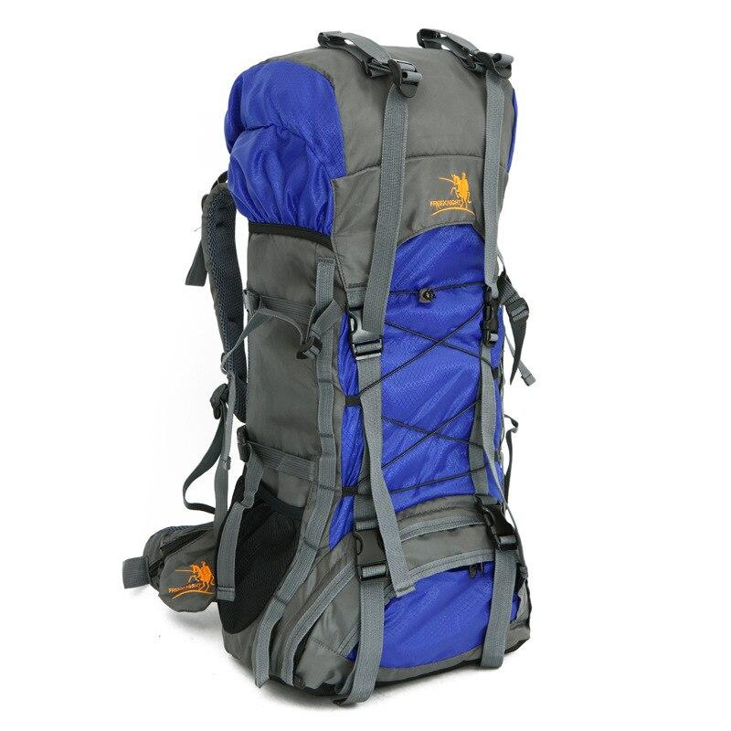 60L Nylon Oxford Waterproof Camping Backpacks Outdoor Climbing Travel Bag Hiking Backpack Men Women Camping Bags